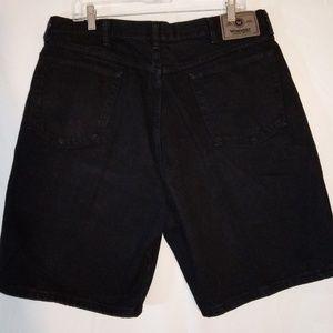 37 Wrangler Black Denim Shorts - Jeans - Classic